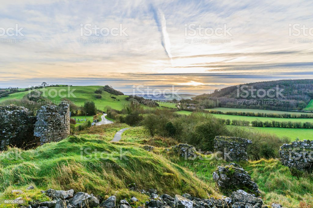 Beautiful irish landscape stock photo