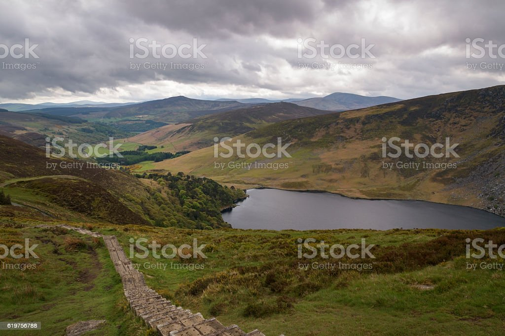 Beautiful Irish landscape with lake Tay in front foto