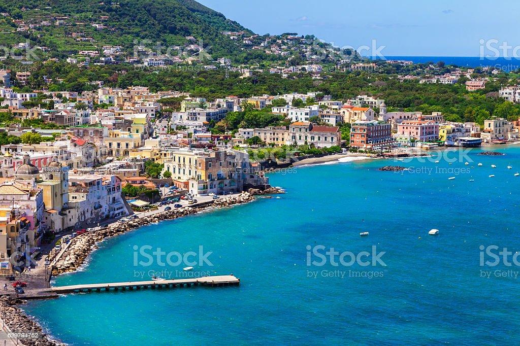 Beautiful Ischia island,Italy. stock photo