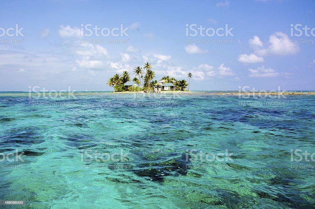 Beautiful Island in Belize stock photo