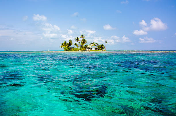 Beautiful Island in Belize stock photo