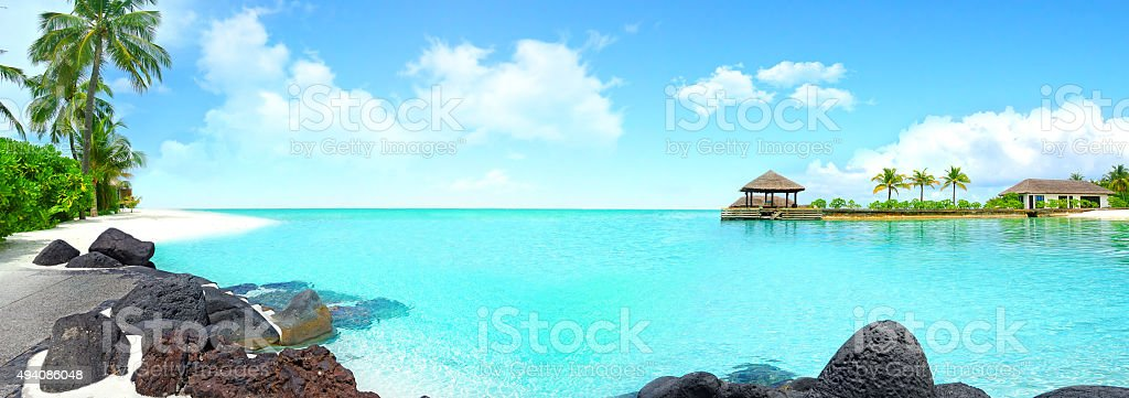 Beautiful island with clear water. stock photo