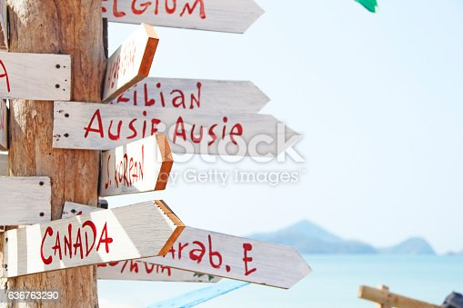 470521655 istock photo Beautiful island with sign 636763290