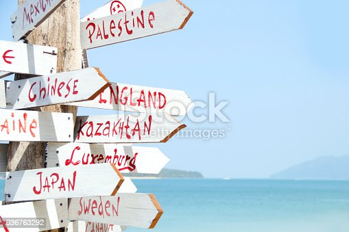 470521655 istock photo Beautiful island with sign 636763292