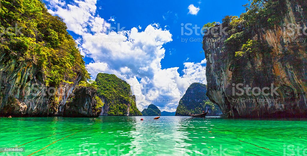 beautiful islands in Thailand, Krabi province stock photo