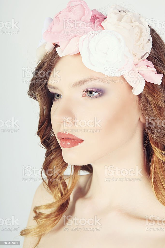beautiful isolated portraits stock photo