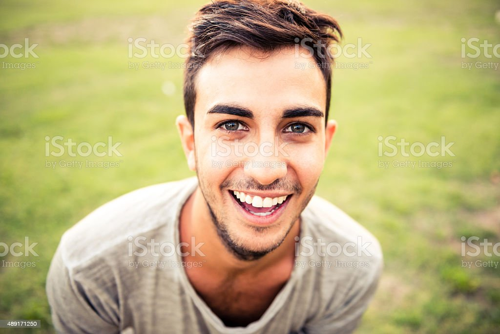Beautiful italian man stock photo