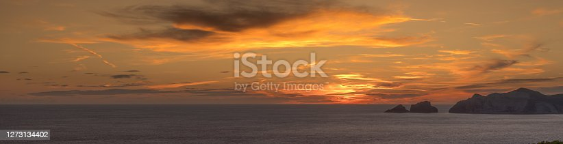 istock Beautiful Italian sunset from Ponza Island, Italy 1273134402