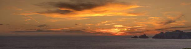 Beautiful Italian sunset from Ponza Island, Italy stock photo