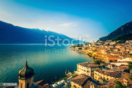 istock Beautiful Italian Village of Limone on the Garda Lake, Italy 181092648