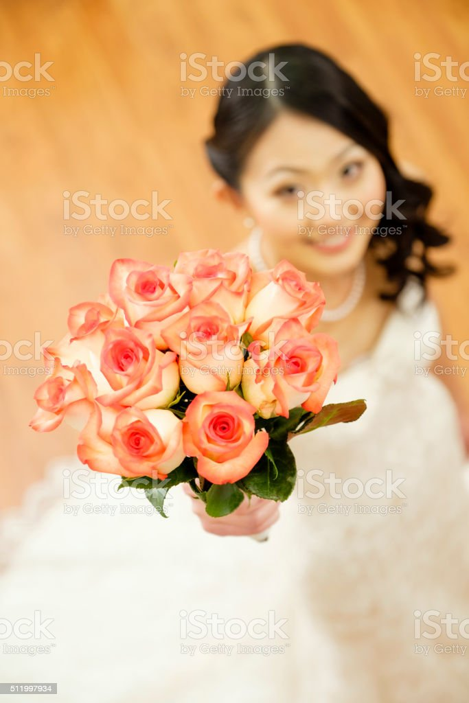 Beautiful Japanese Bride stock photo