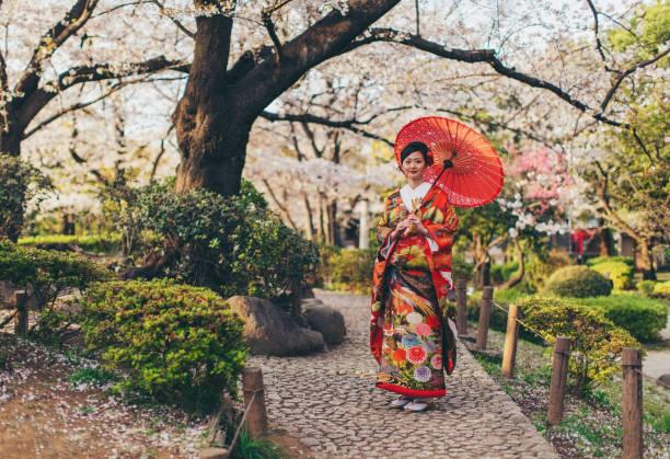 Schöne Japanerin in Kimono – Foto