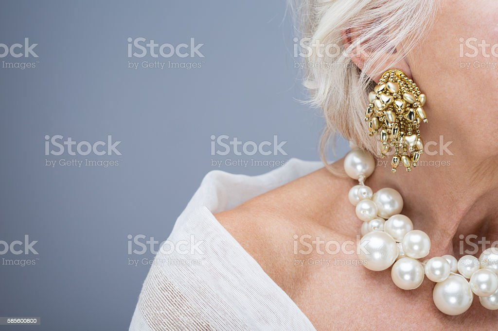 Beautiful jewelry is perfect decoration for woman stock photo