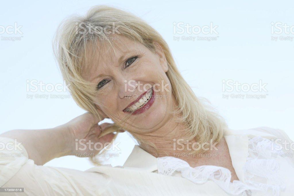 Beautiful Joyful Blonde Woman royalty-free stock photo