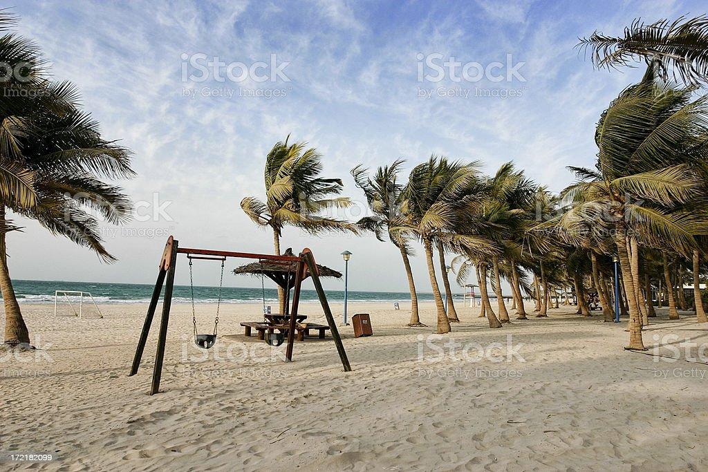 Beautiful Jumeirah Beach, Dubai stock photo