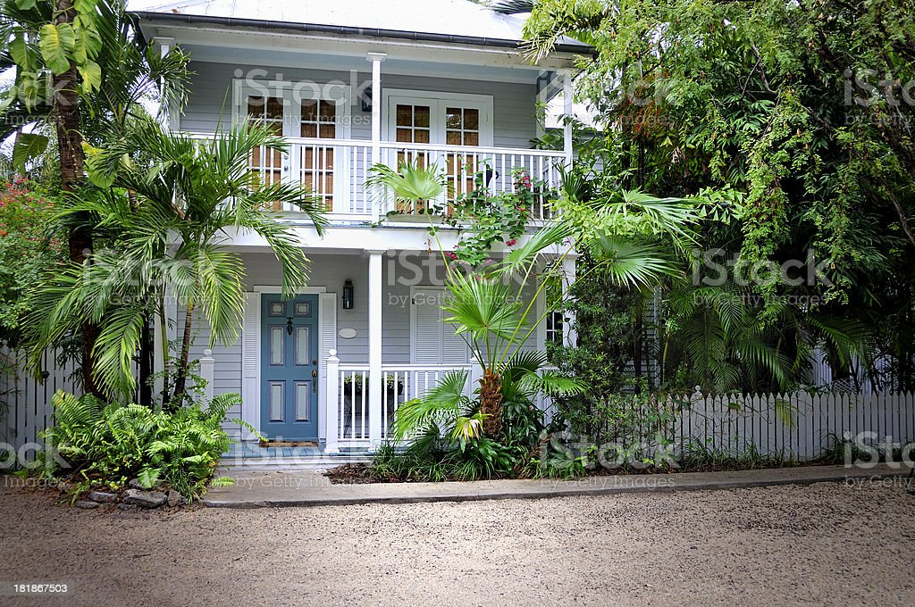 Beautiful Key West Home stock photo