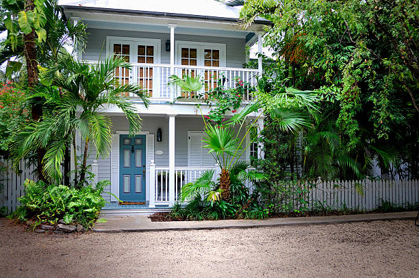 beautiful key west home - mike cherim stock pictures, royalty-free photos & images