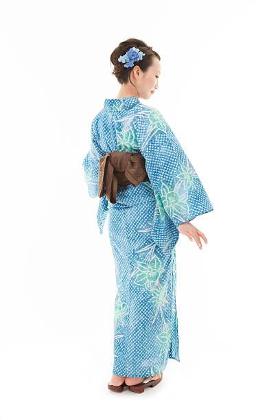 美しい着物女性 - kimono ストックフォトと画像