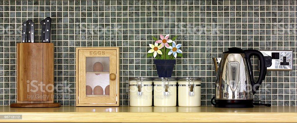 Beautiful kitchen closeup royalty-free stock photo