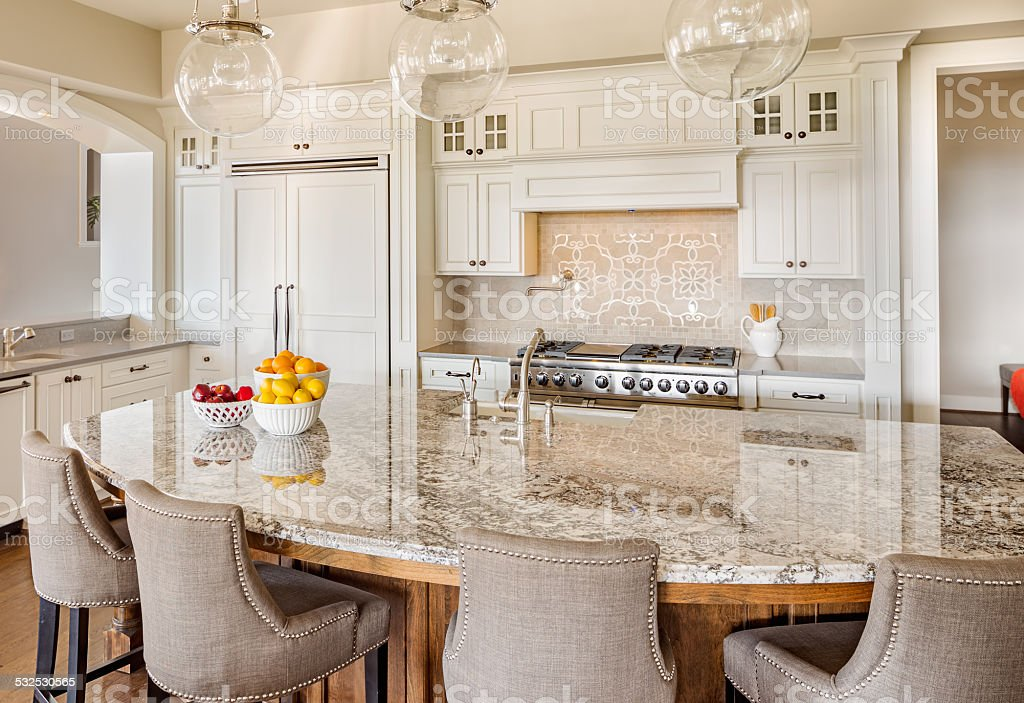 Beautiful Kitchen Detail in Luxury Home stock photo