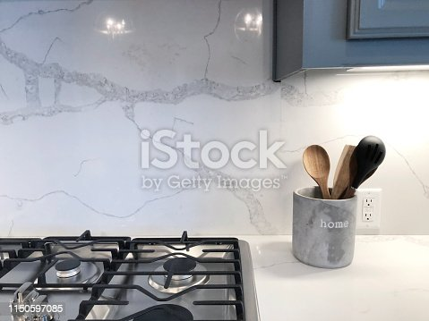 close up part of kitchen