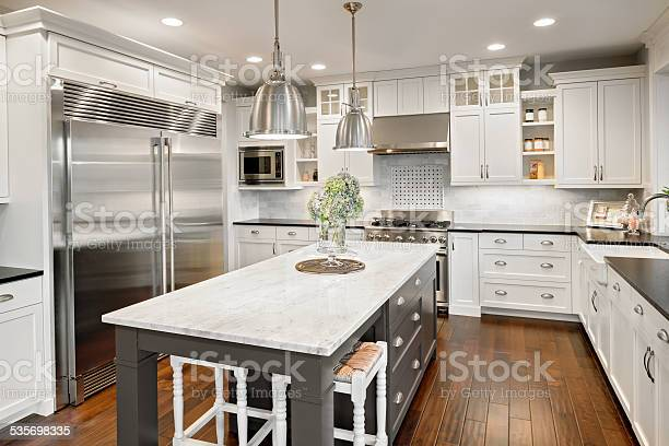 Beautiful kitchen in luxury home with island and stainless steel picture id535698335?b=1&k=6&m=535698335&s=612x612&h=gntsgo6w8w3zgvamiqvmgkzrn3g0ctanye5jrhqatps=