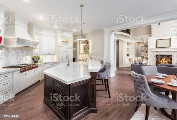 Beautiful kitchen in new luxury home with island pendant lights and picture id692601434?b=1&k=6&m=692601434&s=612x612&h=ghf8jlkgkign73zijxwjzno7 pu cq7r1qfmyq0ptta=