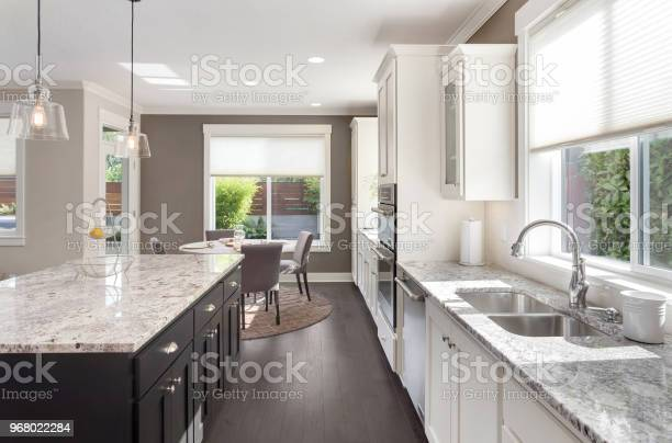 Beautiful kitchen in new luxury home with island pendant lights oven picture id968022284?b=1&k=6&m=968022284&s=612x612&h=mfkllza2u07thet9m9zohd aiyee2n2pguv4kqgz4cm=