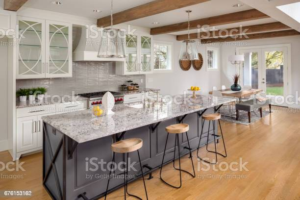Beautiful kitchen with lights off in new luxury home with island picture id676153162?b=1&k=6&m=676153162&s=612x612&h=hnxkagul1suchtnop6ei30n0bp5z3ztz4qbqdquzxc4=