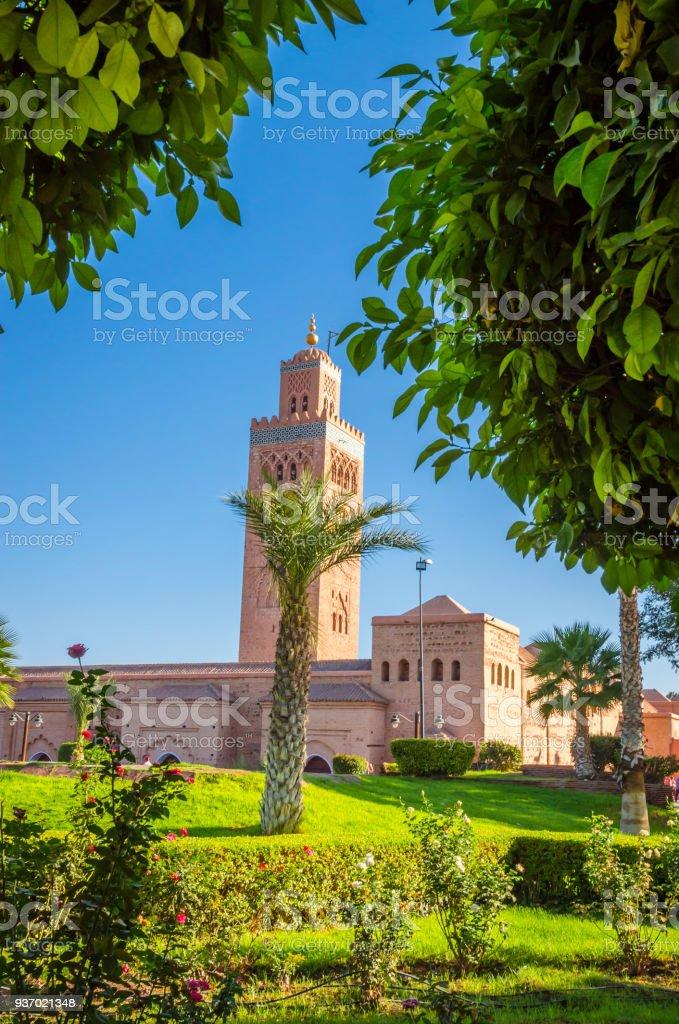 Jardin De La Koutoubia Belle Dans Lancienne Medina De Marrakech