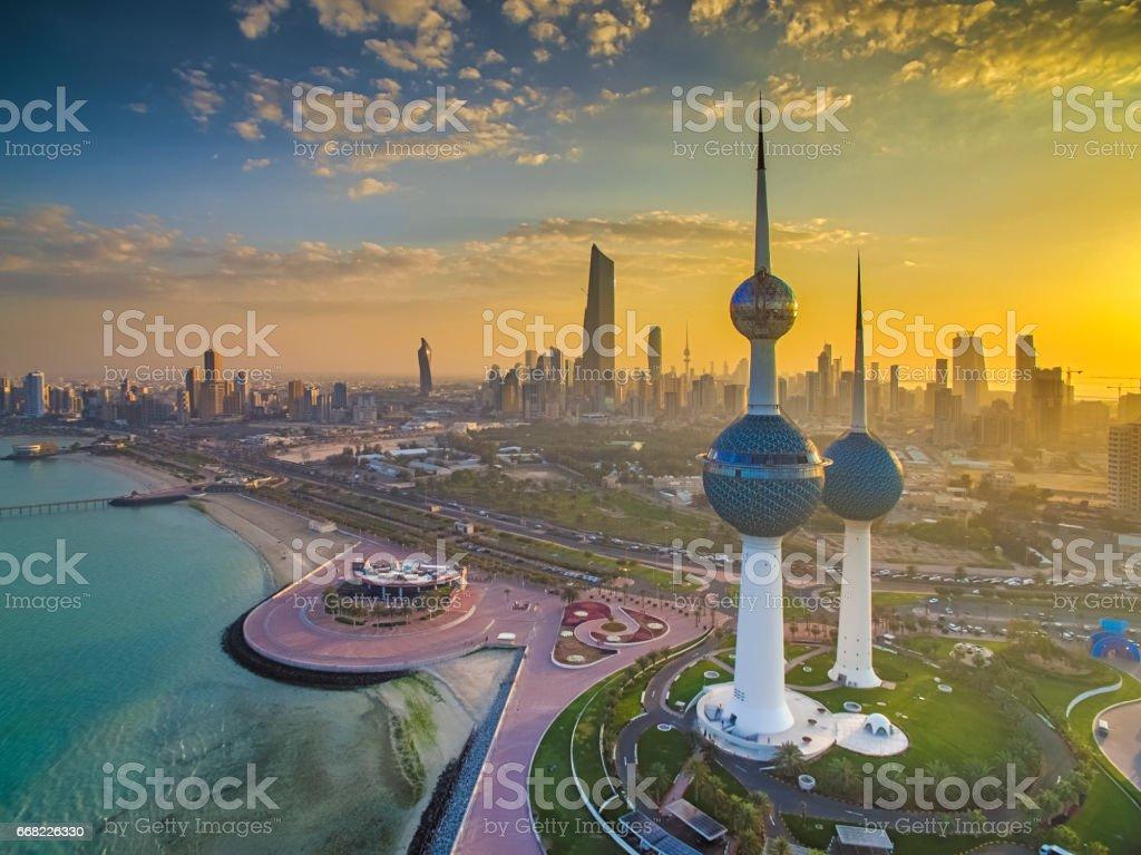 Beautiful Kuwait Sunset Lizenzfreies stock-foto
