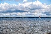 Beautiful Lacanau Lake near Bordeaux, France. Europe, West Coast.