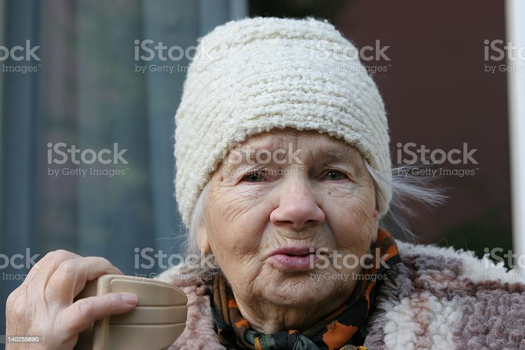 Beautiful Lady - Great-Grandmother royalty-free stock photo