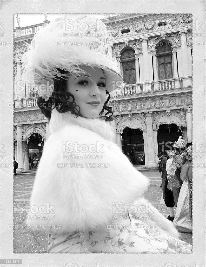 Beautiful Lady Mask 2013 Carnival Venice Italy royalty-free stock photo