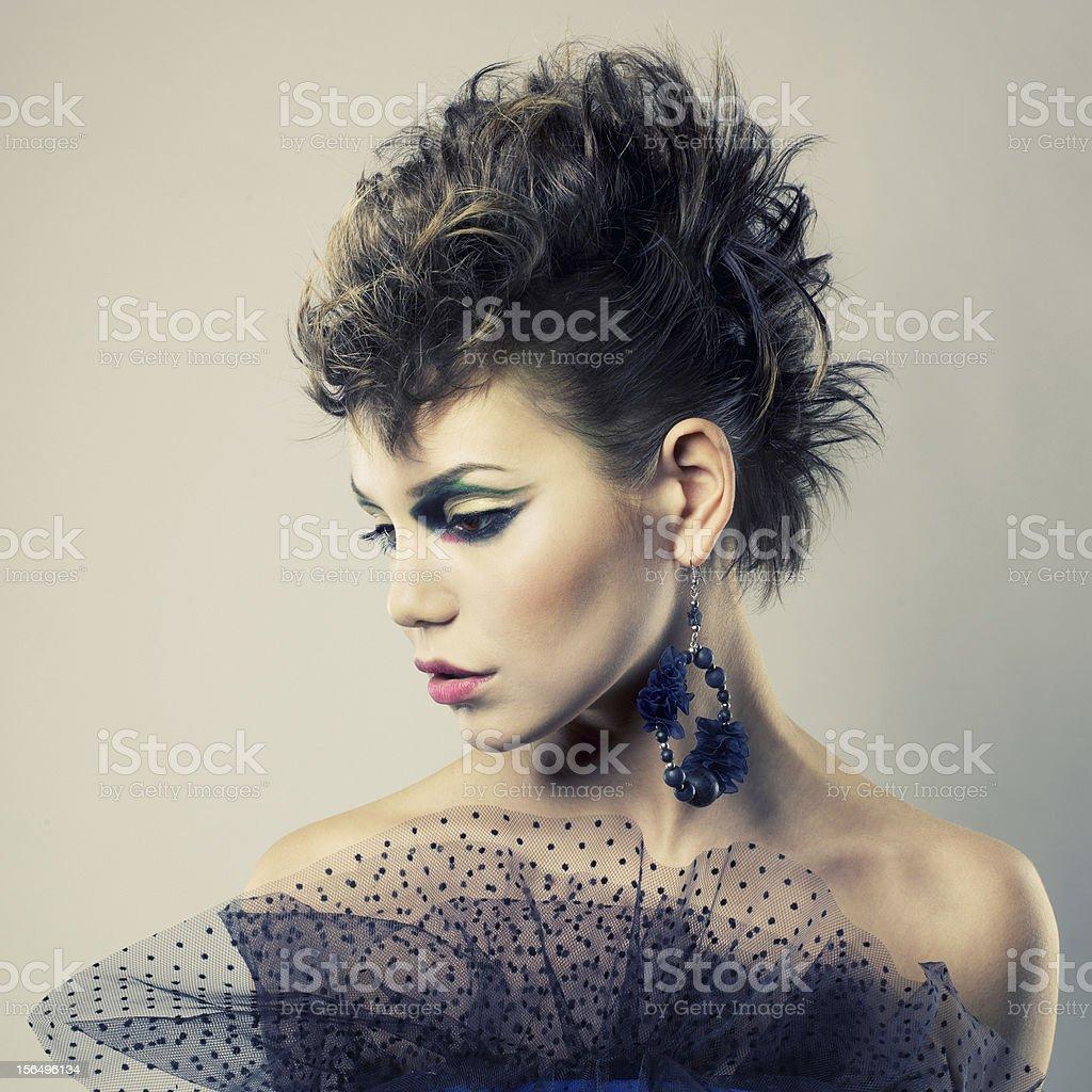 Beautiful lady punk stock photo
