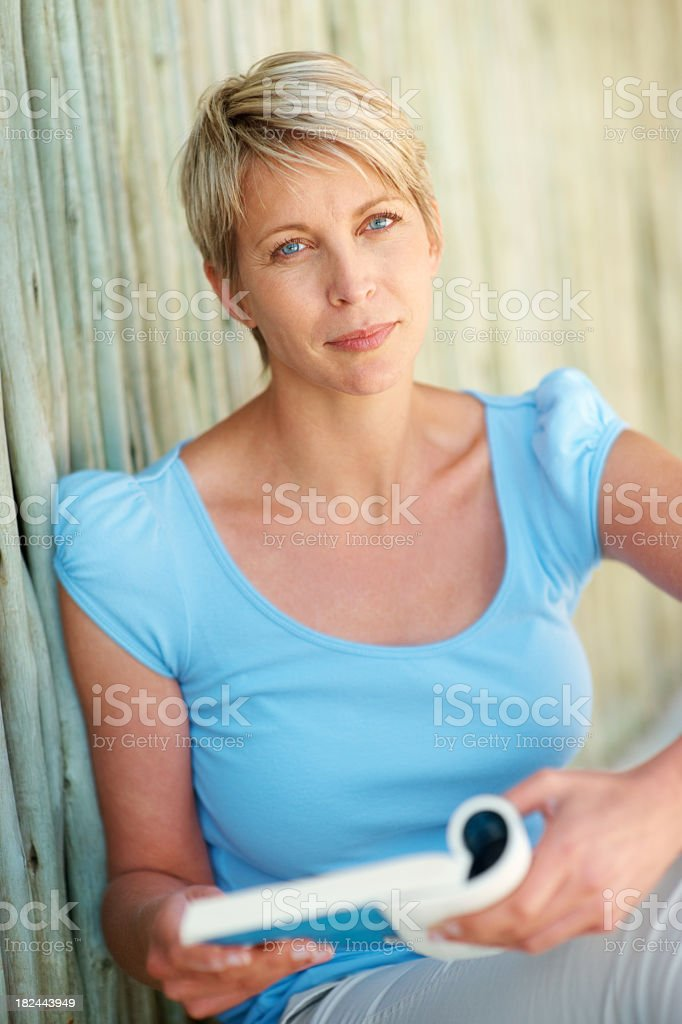 Beautiful lady with a book royalty-free stock photo