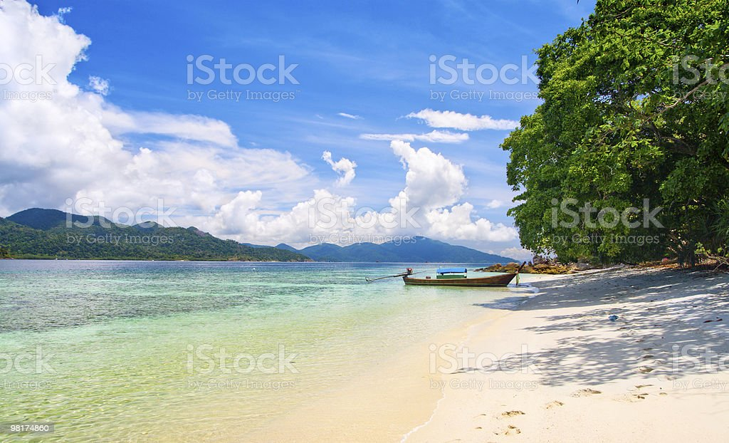 beautiful lagoon and beach with white sand royalty-free stock photo