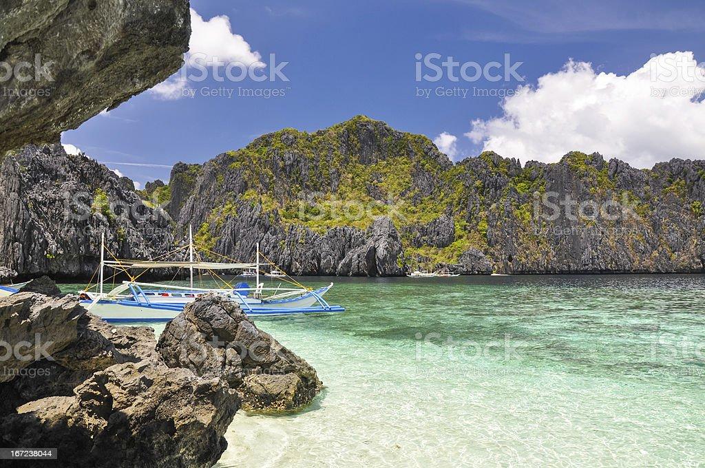 Beautiful lagoon - El Nido, Philippines royalty-free stock photo