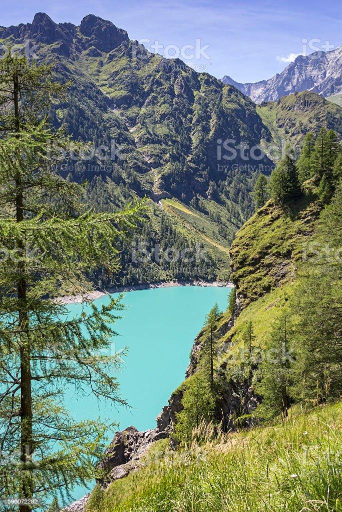Beautiful lake Alpe dei Cavalli, Italy royalty-free stock photo