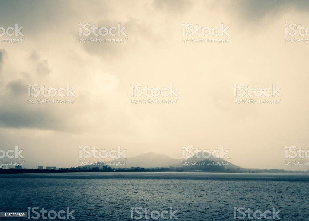Paisagem bonita do backgorund do lago - foto de acervo