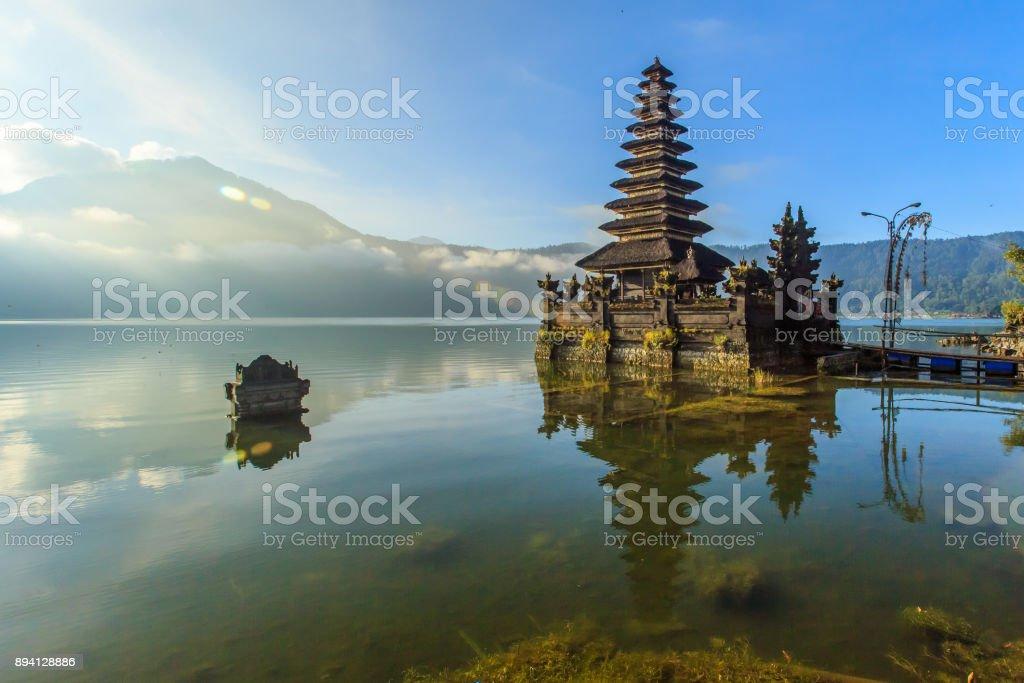 Beautiful Lake Batur landscape stock photo