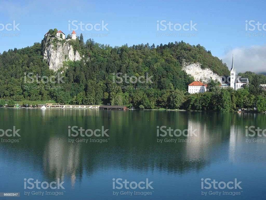 Beautiful Lake Bled, Julian Alps, Slovenia, Central Europe royalty-free stock photo