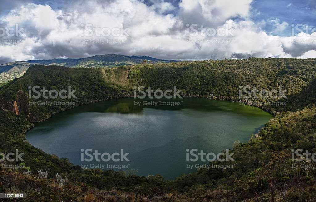 Beautiful Lake Guatavita stock photo