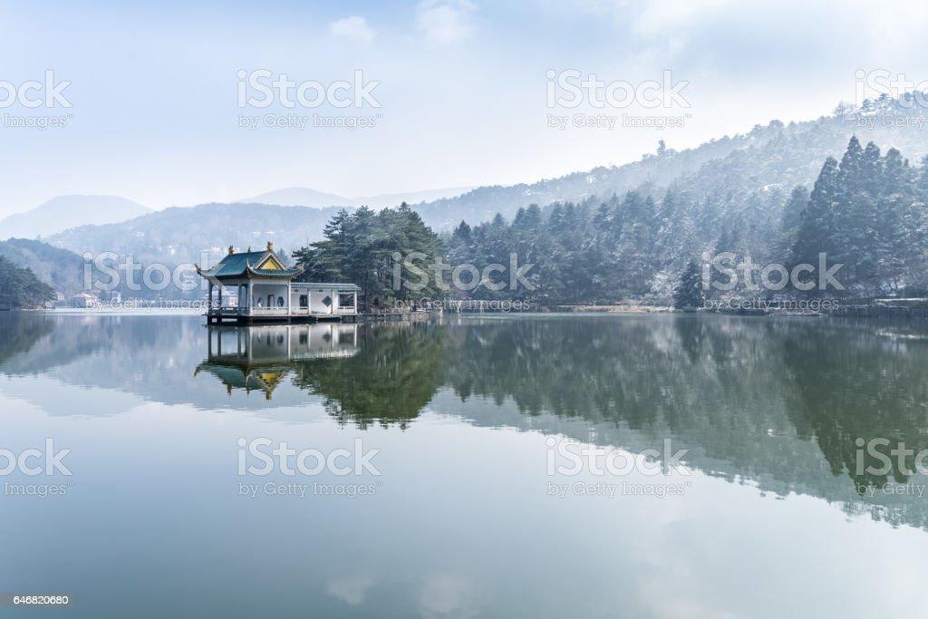 Schöner See in lushan – Foto