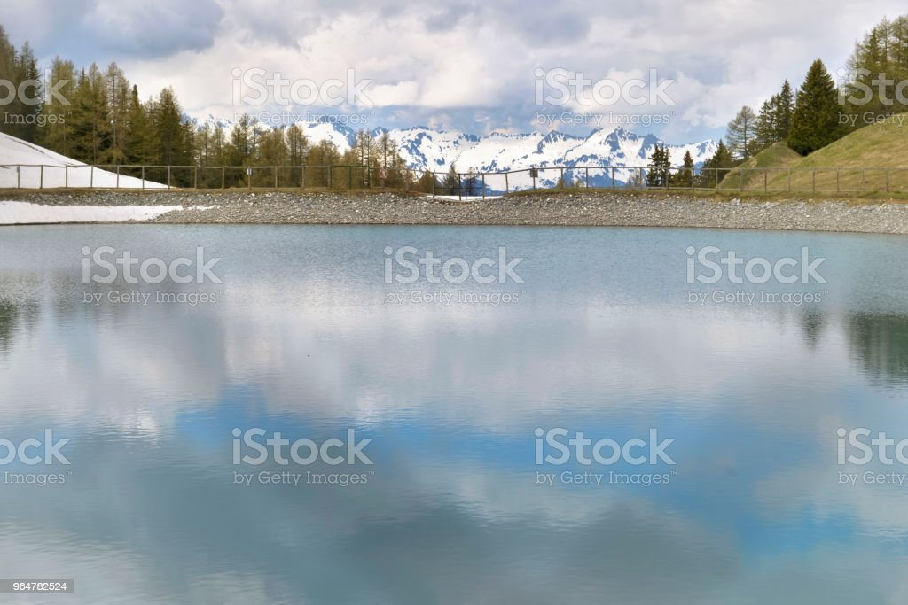 beautiful lake in mountain royalty-free stock photo