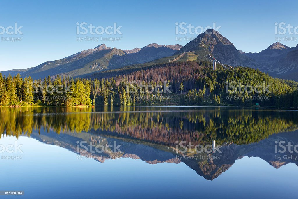 Beautiful lake in Slovakia Tatra - Strbske pleso royalty-free stock photo