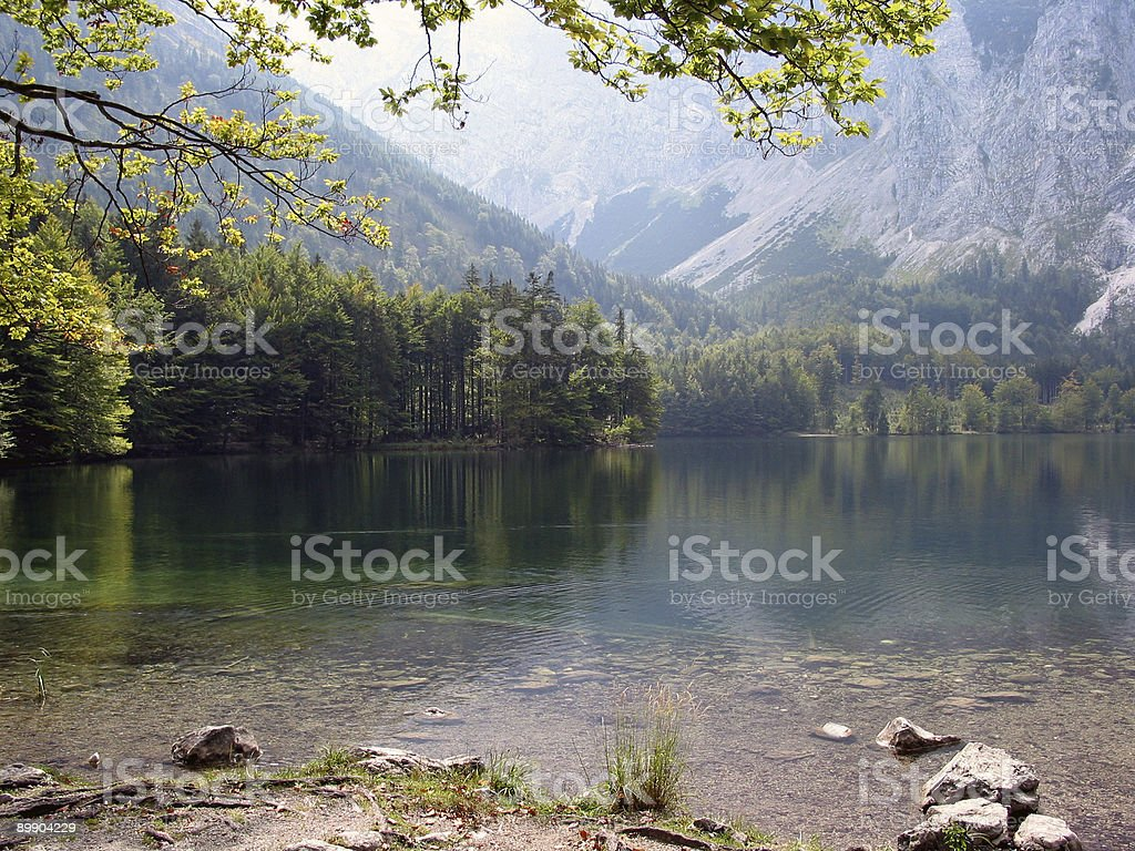 Beautiful lake in Upper Austria royalty-free stock photo