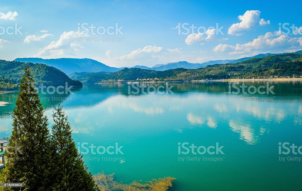 Beautiful Lake, Jablanicko Jezero, Bosnia stock photo