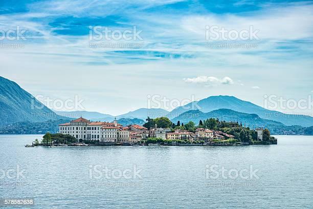 Photo of beautiful lake Lago Maggiore between Switzerland and Italy