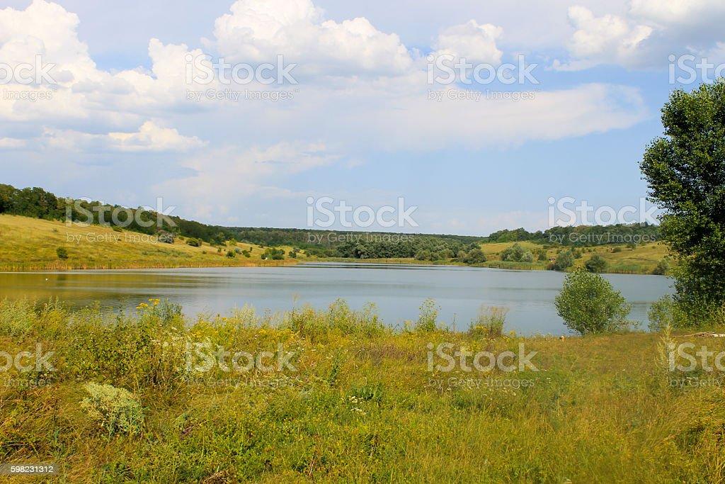 Belo lago de verão foto royalty-free